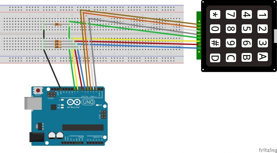 Arduino tutorial: Matrix KeyPad 4×4